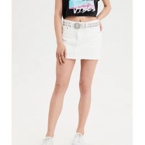 AE Tomgirl Denim Mini Skirt White NWT
